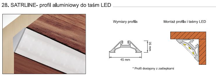 STARLINE - profil aluminiowy do taśm LED